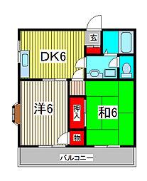 メゾン・ジュヌフォーレ[3階]の間取り