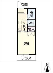 リバティスクエア[1階]の間取り