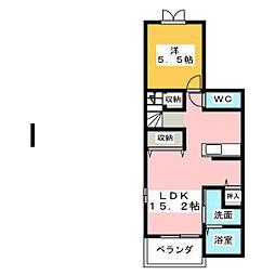 スクールヤード・シノギ[2階]の間取り