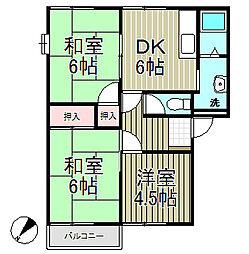 フレグランス飯島A棟[1階]の間取り