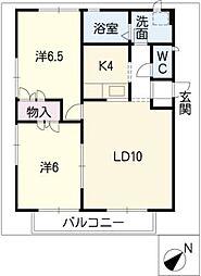 アイビーガーデンB棟[2階]の間取り