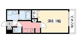 AMARE甲東園[202号室]の間取り