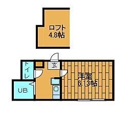 ロッシェル東林間[1階]の間取り