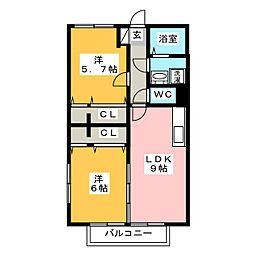 ソフィア西長住[2階]の間取り