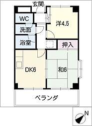 リンピアNAGASHIMA[3階]の間取り