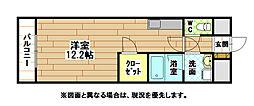 福岡県北九州市八幡西区北筑3丁目の賃貸マンションの間取り