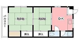 浜甲シーサイドマンション西[315号室]の間取り