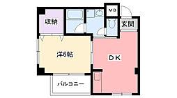 秋桜(コスモス)[205号室]の間取り