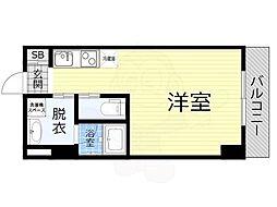 JO-KITA TERRACE 2階ワンルームの間取り
