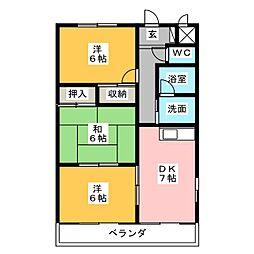 グレイス丹羽[1階]の間取り