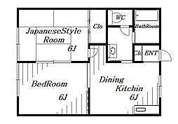 イーストフジ[2階]の間取り