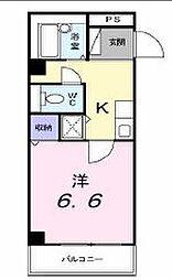 香川県高松市西町の賃貸マンションの間取り