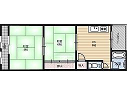 第一源氏之荘[2階]の間取り