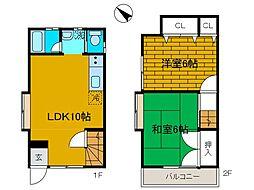 [テラスハウス] 神奈川県相模原市中央区上矢部2丁目 の賃貸【/】の間取り