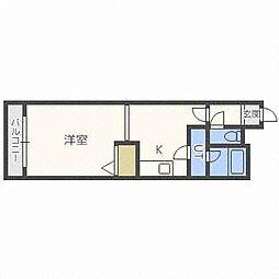 北海道札幌市東区北三十一条東18丁目の賃貸マンションの間取り