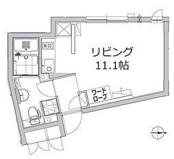 アレーロ江戸川橋 2階1Kの間取り