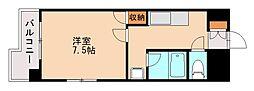 福岡県福岡市城南区長尾5丁目の賃貸マンションの間取り
