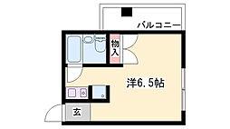 荒三マンション[4階]の間取り