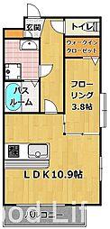 フォーサイト 西片江[3階]の間取り