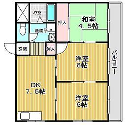 愛知県名古屋市中川区打出2の賃貸マンションの間取り