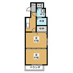 ボナール三条高倉[2階]の間取り