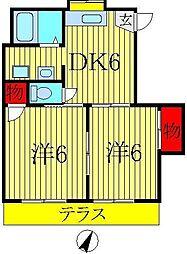 ガーデンハイツ桜台[2階]の間取り