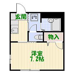東京都葛飾区堀切3丁目の賃貸アパートの間取り