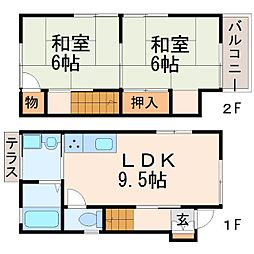[一戸建] 兵庫県西宮市小松北町2丁目 の賃貸【/】の間取り