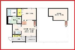 東京都荒川区町屋4丁目の賃貸アパートの間取り