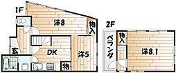 [一戸建] 福岡県北九州市八幡東区尾倉1丁目 の賃貸【/】の間取り