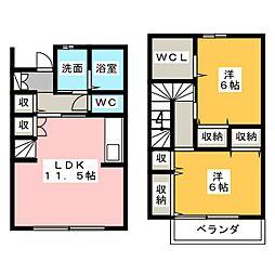 [テラスハウス] 静岡県浜松市西区志都呂1丁目 の賃貸【/】の間取り