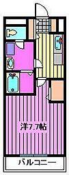 サンティエ ホワイトマム[3階]の間取り
