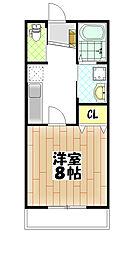 仮)松ヶ丘4丁目アパート[203号室]の間取り