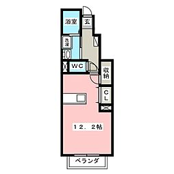 プリーマKII[1階]の間取り