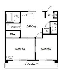 東京都府中市本宿町4丁目の賃貸マンションの間取り