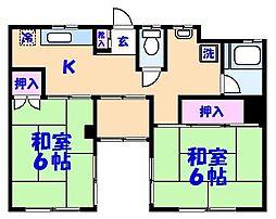 第2平田マンション[102号室]の間取り