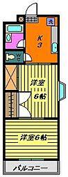 コーポエクセル[3階]の間取り
