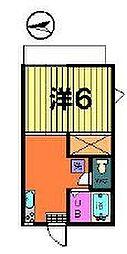 第二カトレアハイツ[2階]の間取り