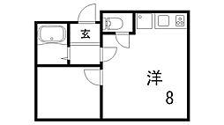 宮元ビル[6階]の間取り