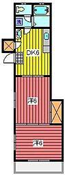 キャッスルホシノ[3階]の間取り