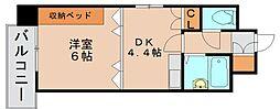 ライオンズマンション博多中央[8階]の間取り