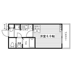 福岡県福岡市西区元浜1丁目の賃貸マンションの間取り