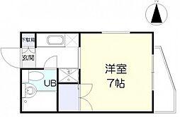 中村ハイツ[2階]の間取り