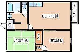 兵庫県神戸市兵庫区梅元町の賃貸アパートの間取り