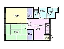第二明和荘[B号室]の間取り