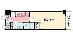 グルーヴ武庫川[908号室]の間取り
