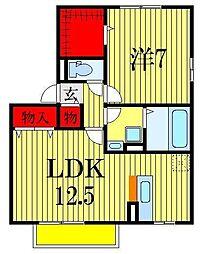 アークヒルズK[1階]の間取り