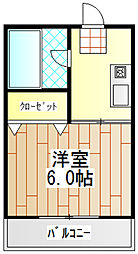 神奈川県伊勢原市桜台3丁目の賃貸マンションの間取り