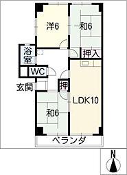 ファミール柴田A・B・C棟[2階]の間取り