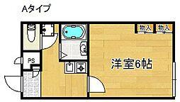 大阪府泉南市樽井8丁目の賃貸アパートの間取り